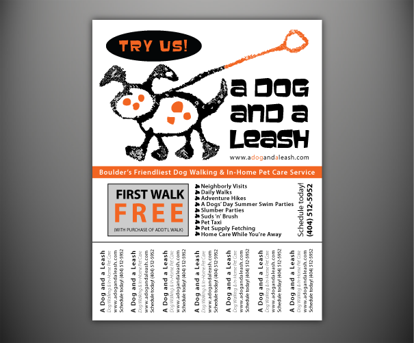 dog walking flyer template