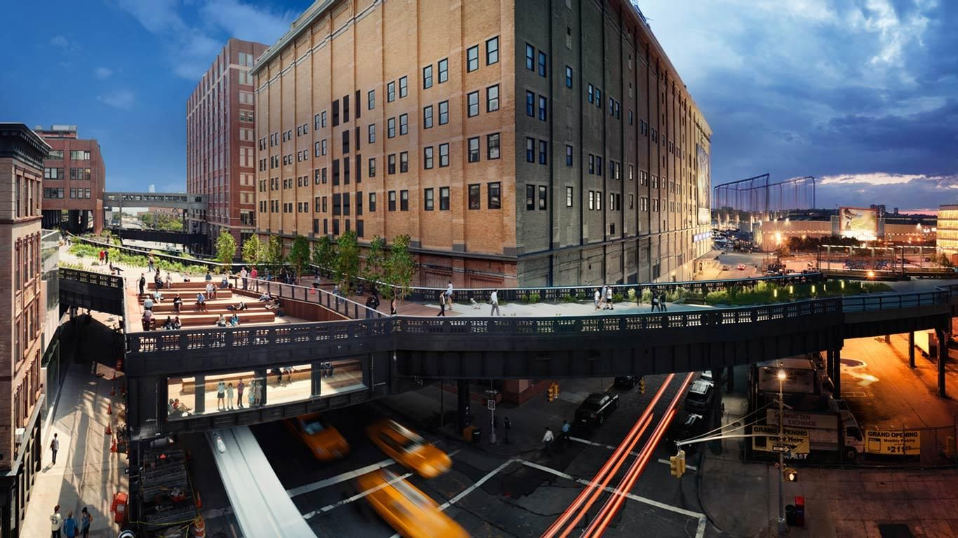 View of the high line elevated park in new york city new for New york city highline