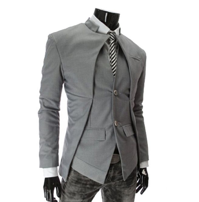 Fashionable jacket that's both edgy and dress. Perfect for any occassion.  Materials: Acetate, Acrylic, Cotton, Polyester, Spandex