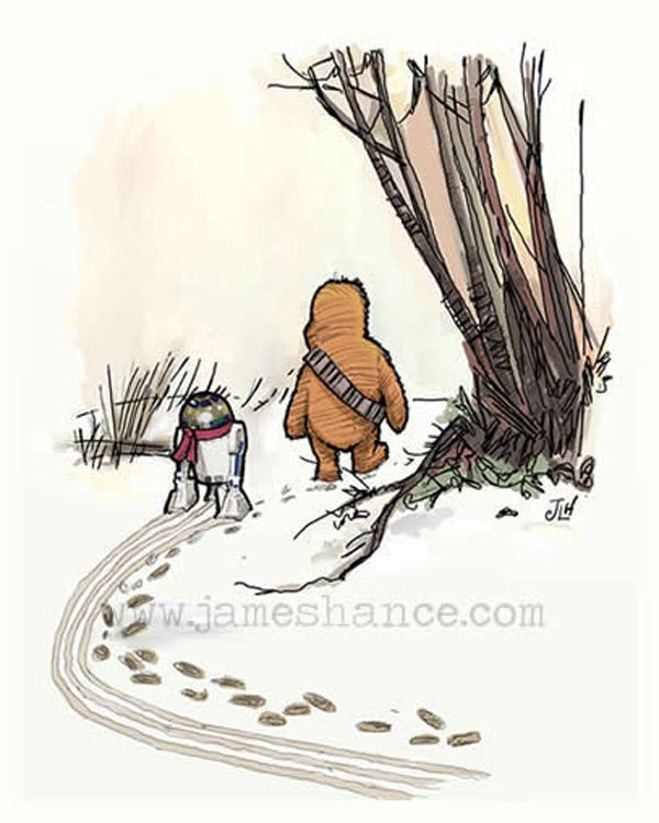 Awww so cute!  Star Wars Winnie-the-Pooh