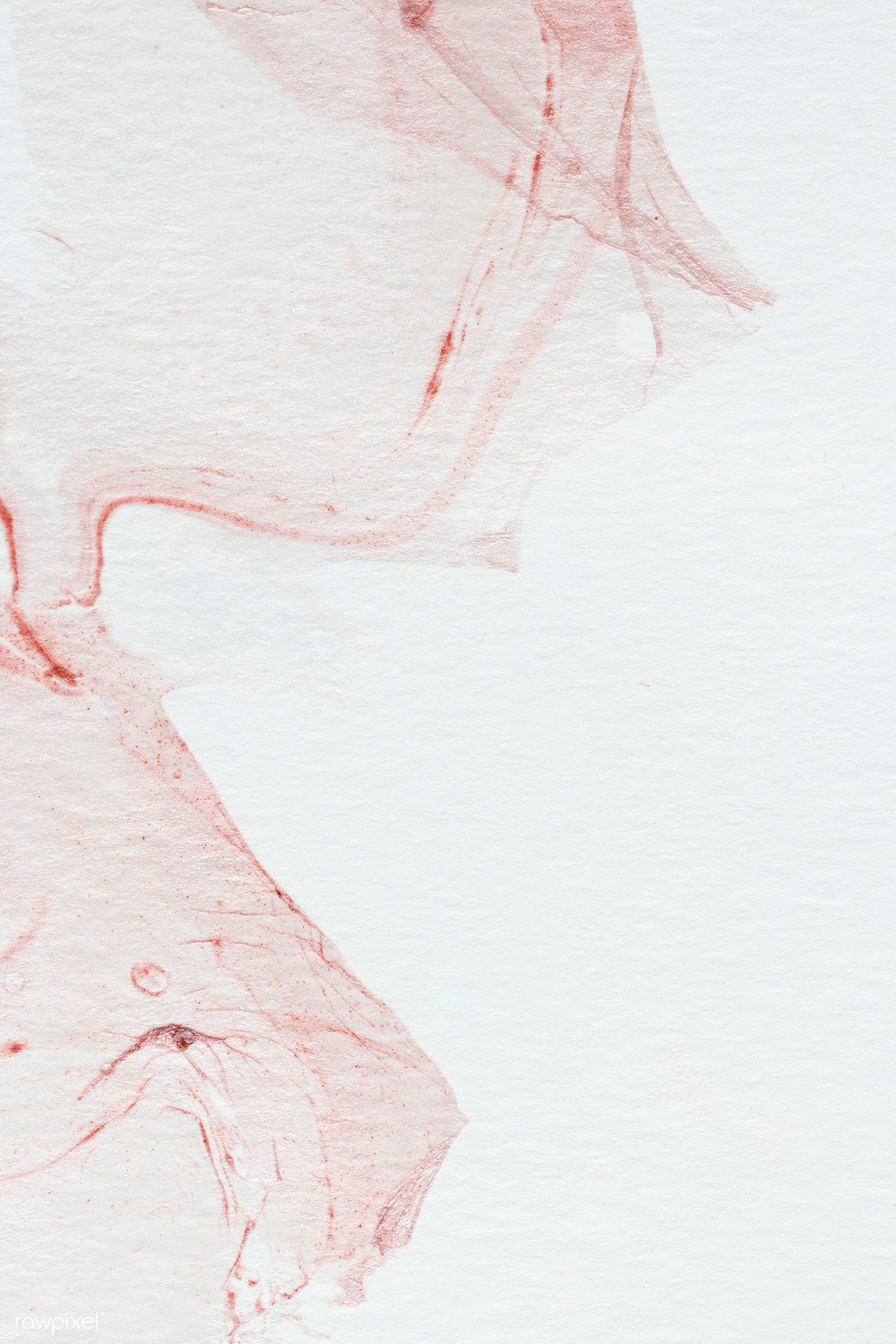 Red Abstract Watercolor Painting Background Free Image By