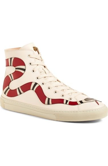 Gucci Major Snake High Top Sneaker (Women) available at