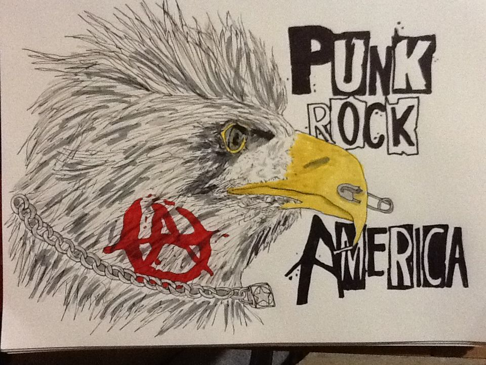 Drawing of Punk Rock Eagle