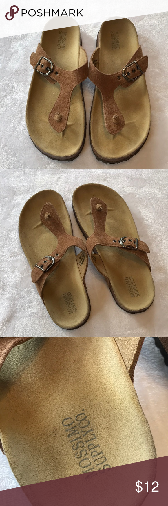 e9dfc9dba280 Mossimo Supply Co Target Leather Footbed Sandals 7 Mossimo Supply Co Target  Leather Footbed Sandals