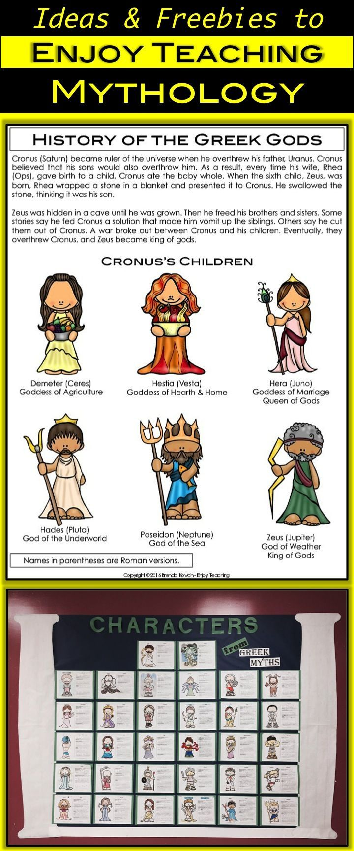 Teaching Mythology with ELA Activities for Your Fourth Grade Students    Greek mythology lessons [ 1728 x 720 Pixel ]