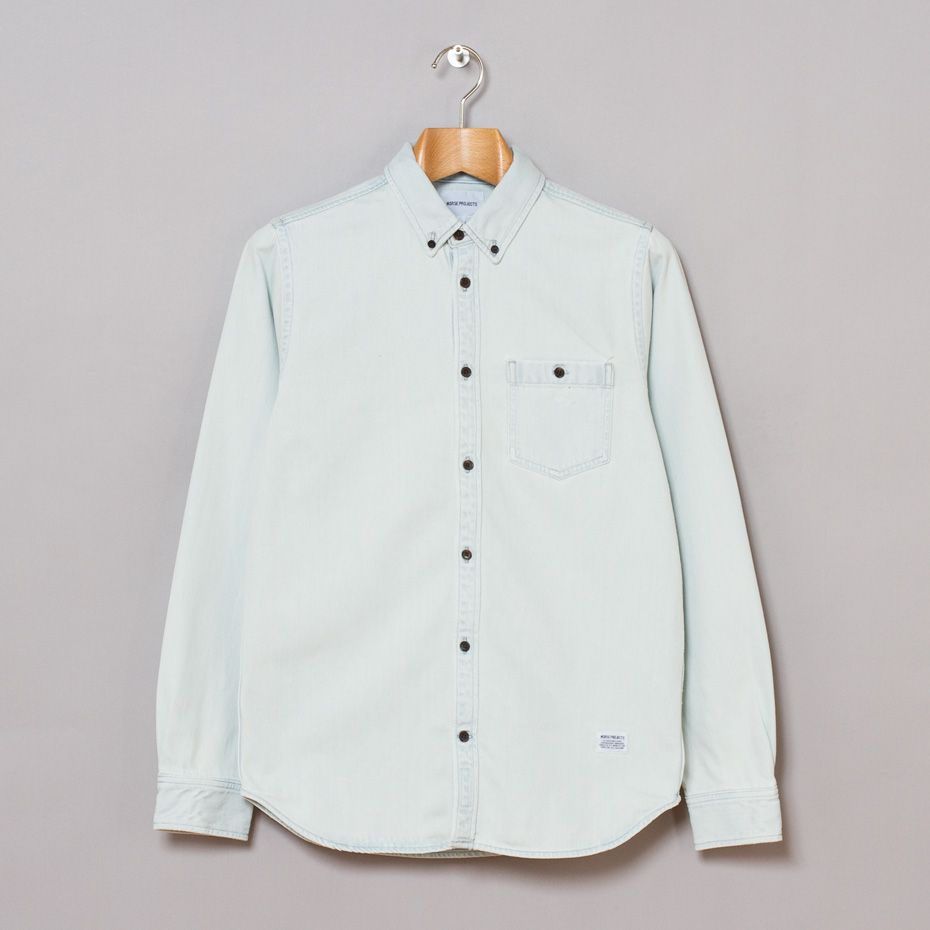 49d33e13fa Norse Projects   Anton Denim Shirt (Bleached) via Oi Polloi