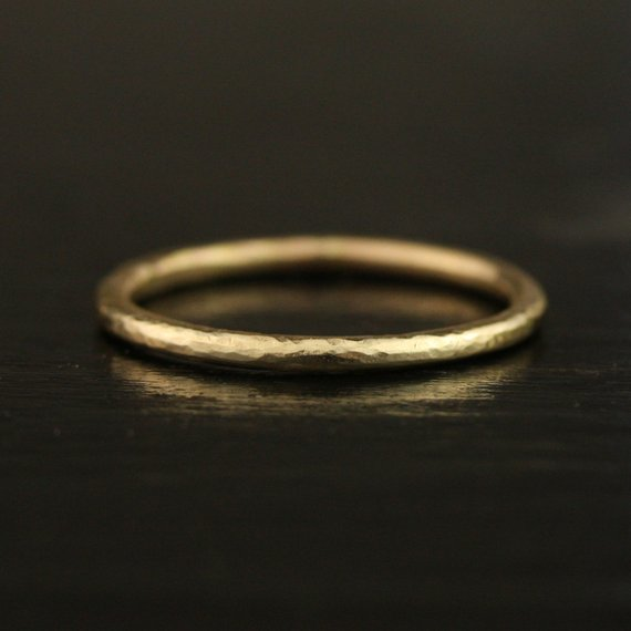 a1bfbea23d859 Zero Waste Recycled 1.65mm 14k / 18k / 22k / 24k Gold Hammered Thin ...