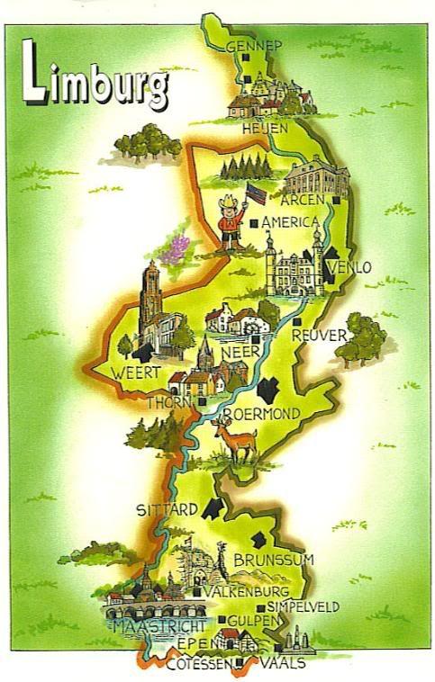 Limburg Map Vakantie Reizen
