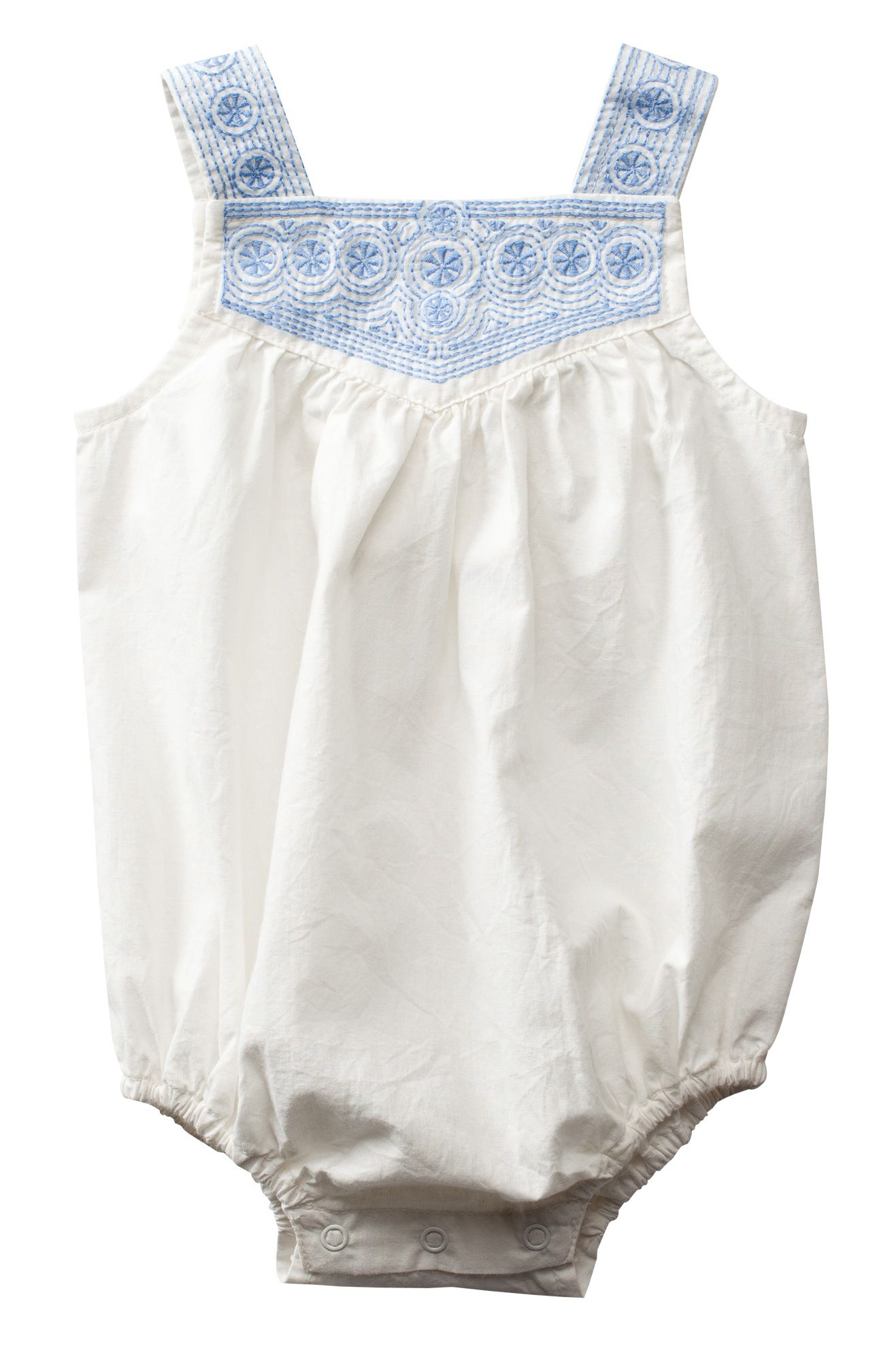 Woven Embroidered Bodysuit | Purebaby