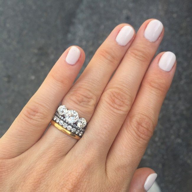 The Most Beautiful Wedding Ring Stack Inspiration From Pinterest