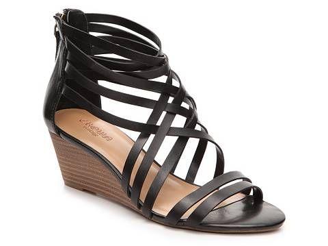 978d255976c Crown Vintage Nellie Wedge Sandal Black Wedge Sandals