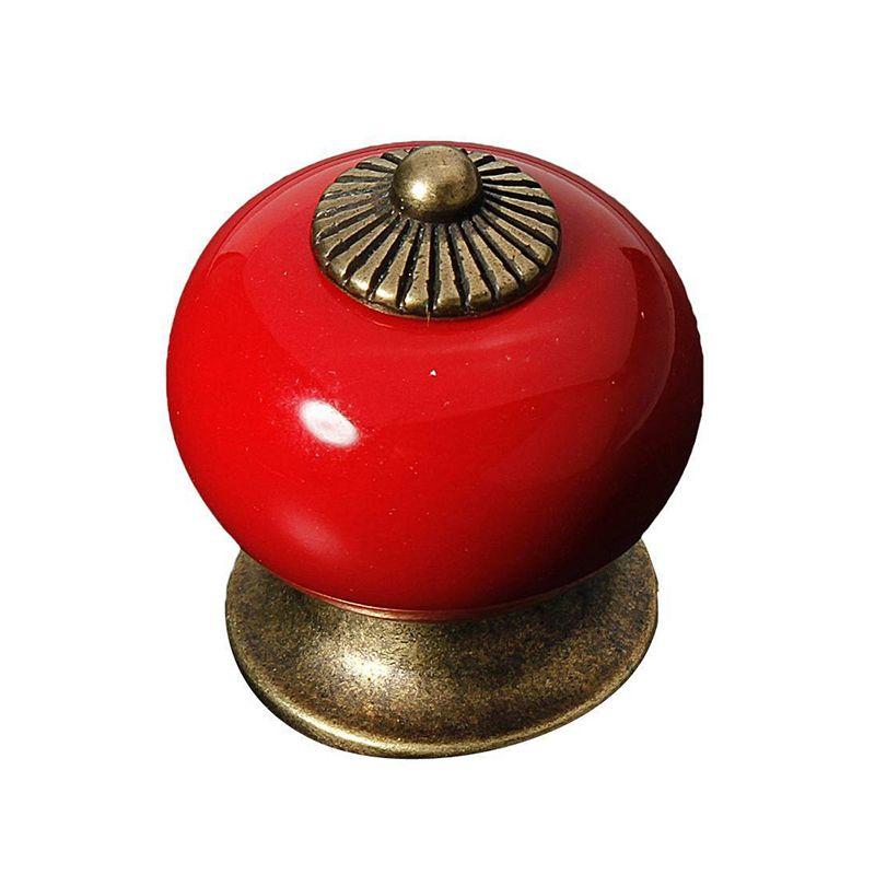 Pas cher dsha 5x vintage en c ramique poign e de porte armoire tiroir placard cuisine r tro pull - Poignee porte cuisine rouge ...