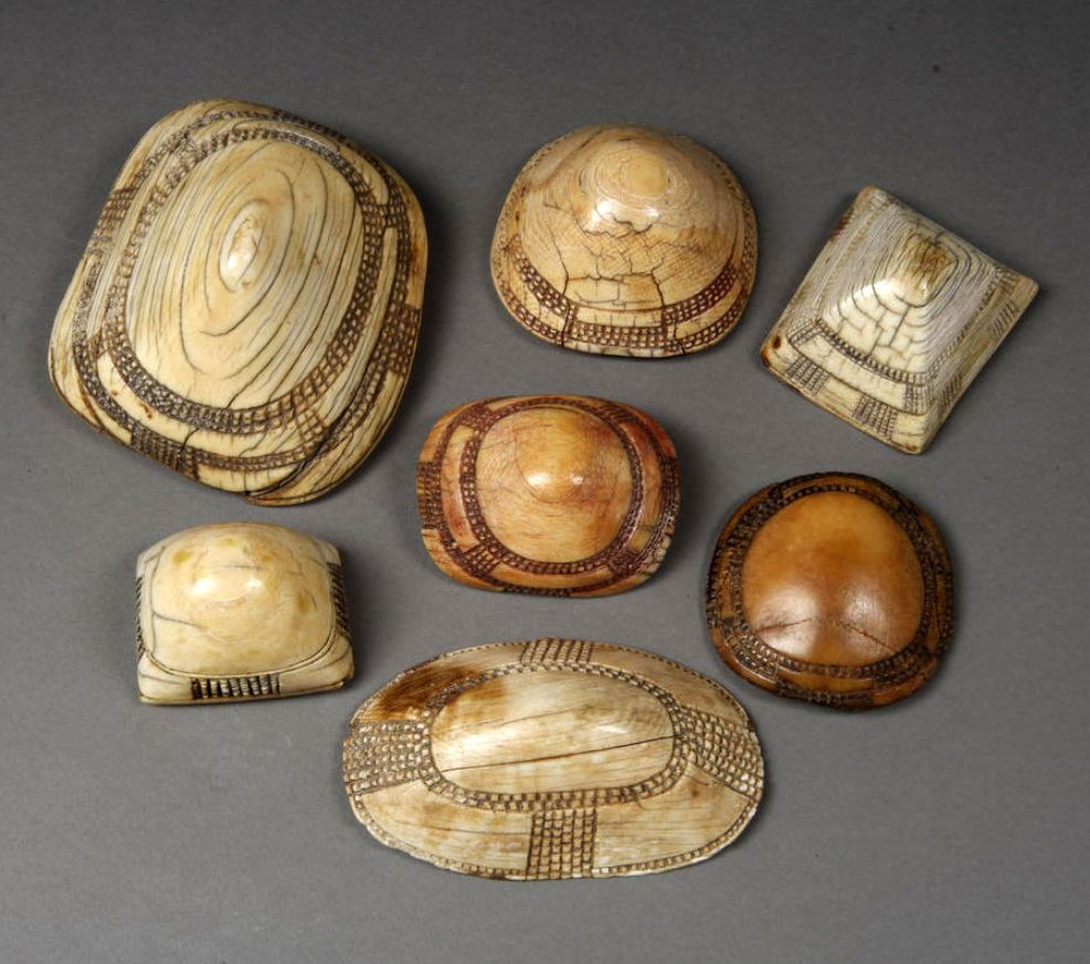 """Group Of """"omakipa"""" Dress Ornaments From The"""