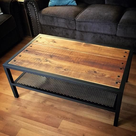 Modern industrial carriage coffee table en 2019 mesas for Muebles de diseno industrial