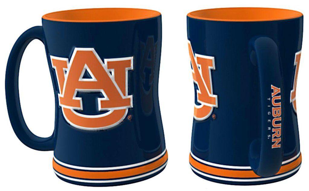 Auburn Tigers 3d Coffee Mug 14oz Sculpted Relief Auburn Tigers Mugs Mugs Set