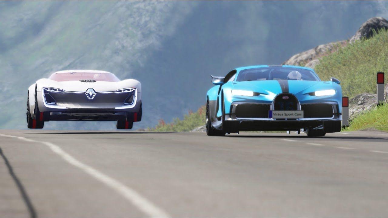 Renault Trezor vs Bugatti Chiron Pur Sport at Highlands