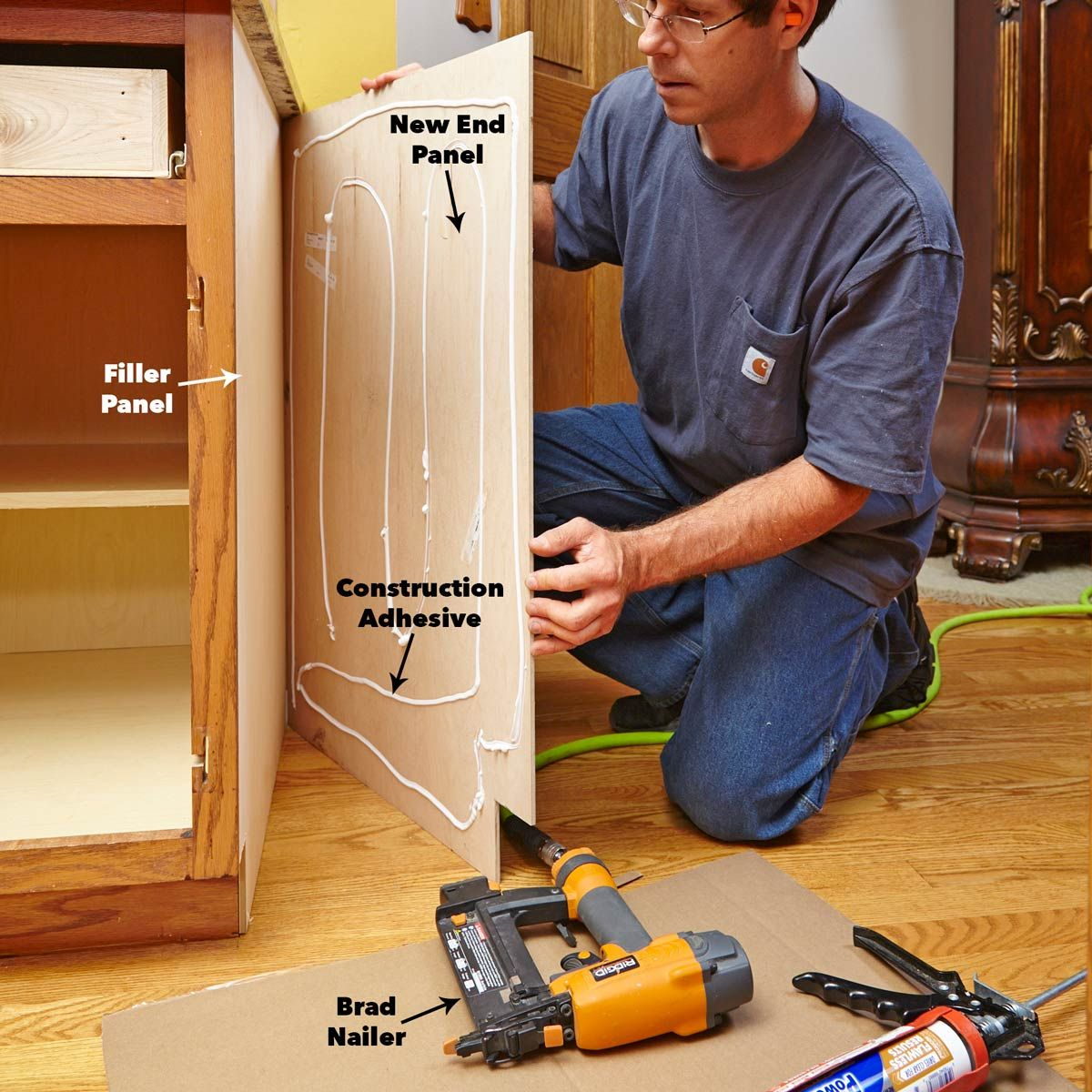 Install Cabinet Refacing End Panels Cabinet Door Refacing Refacing Kitchen Cabinets Cabinet Refacing Diy Cabinet Refacing