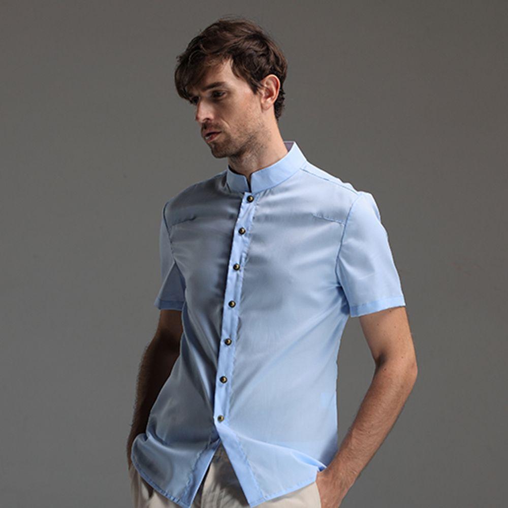 Men/'s Fashion Casual Buckle Printing Cotton-Hemp Short Sleeve Long Pants Suit US