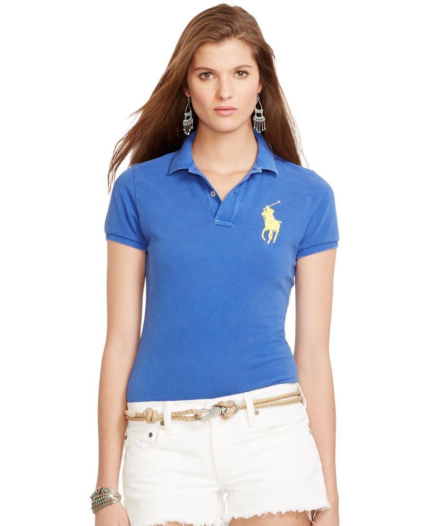 Polo Ralph Lauren Sim-Fit Big-Pony Polo Shirt - Tops - Women - Macy's