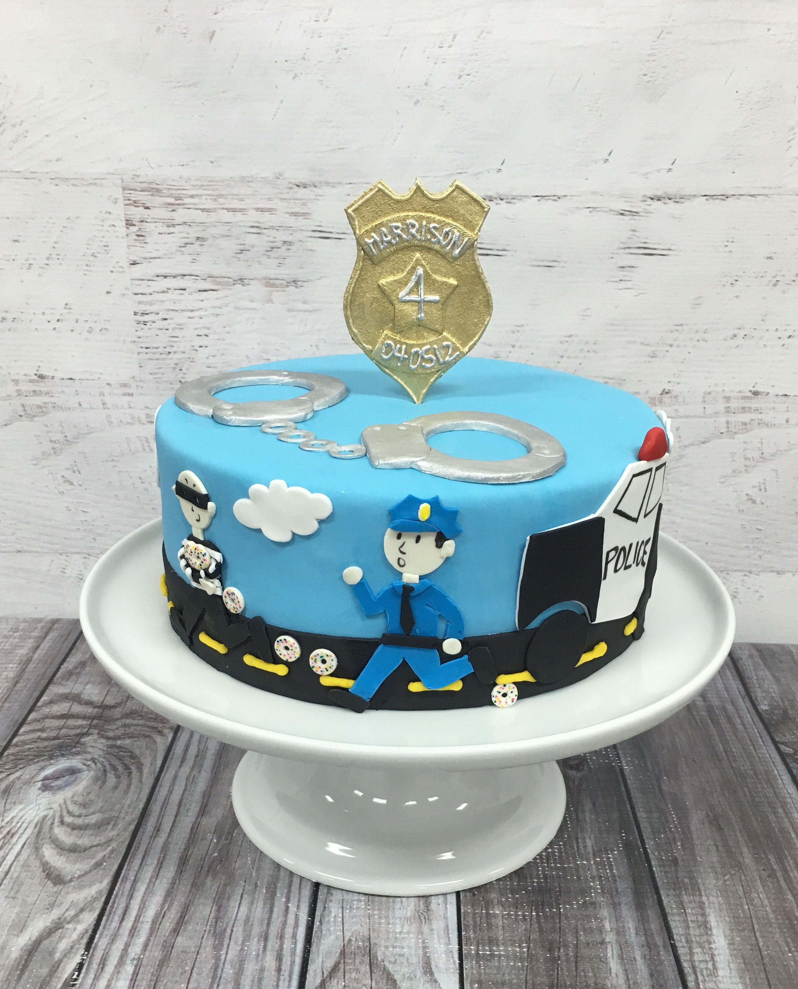 Terrific Police Cake Cops And Robbers Cake With Images Police Birthday Funny Birthday Cards Online Alyptdamsfinfo