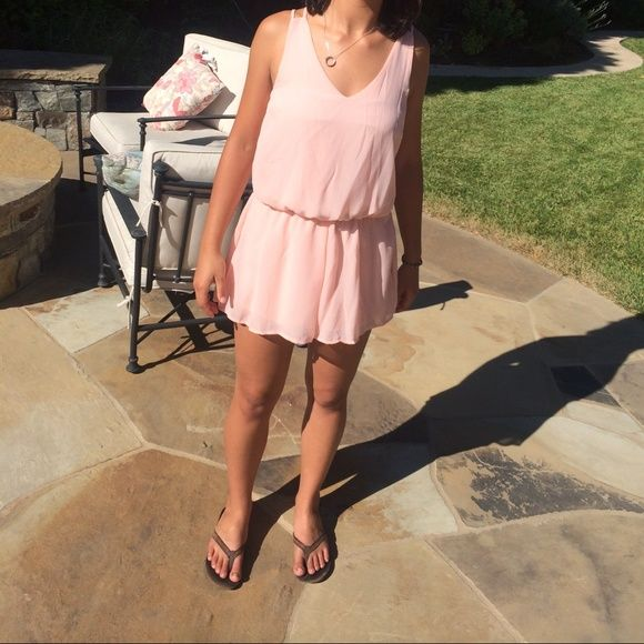 Charlotte Russe romper Comfortable, breathable, peachy pink, strappy back! Perfect for summer days at the beach, pool, etc. Charlotte Russe Dresses