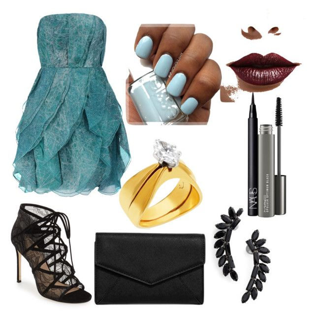 """""""Untitled #96"""" by mrcccu on Polyvore featuring Halston Heritage, Pour La Victoire, LULUS, Cristabelle, MAC Cosmetics, NARS Cosmetics and LASplash"""