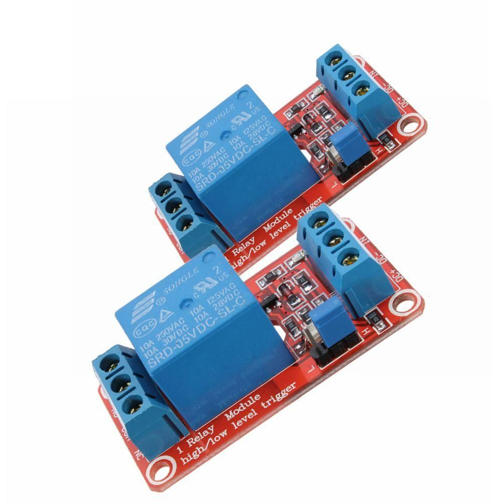 2pcs 5v 1 Channel Level Trigger Optocoupler Relay Module For
