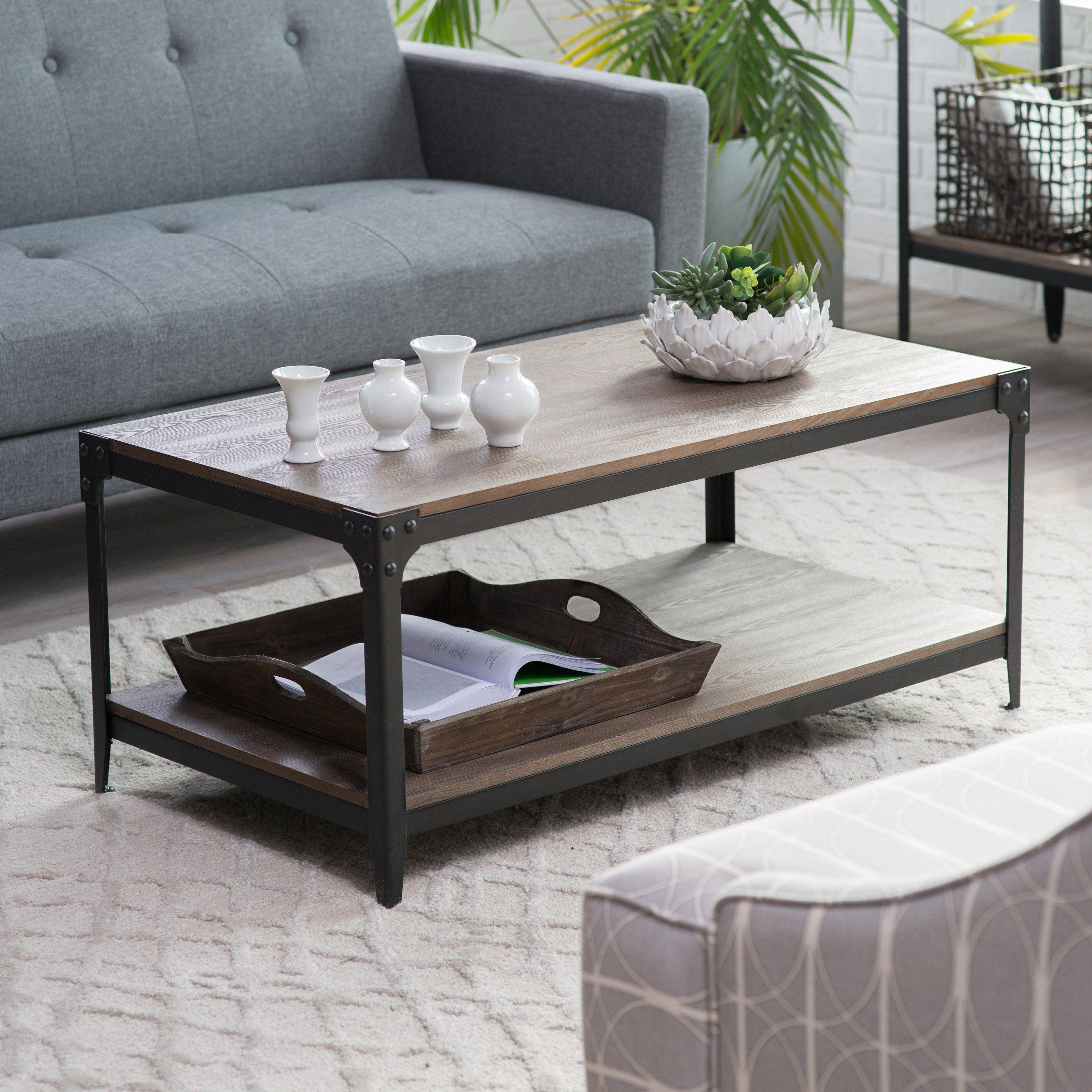 Belham Living Franklin Reclaimed Wood Industrial Coffee Table: Belham Living Trenton Coffee Table
