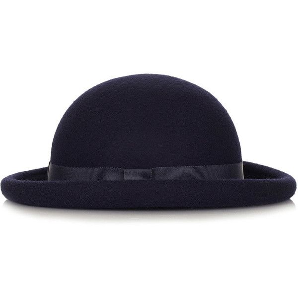 TOPSHOP Roller Bowler Hat ($50) Liked On Polyvore