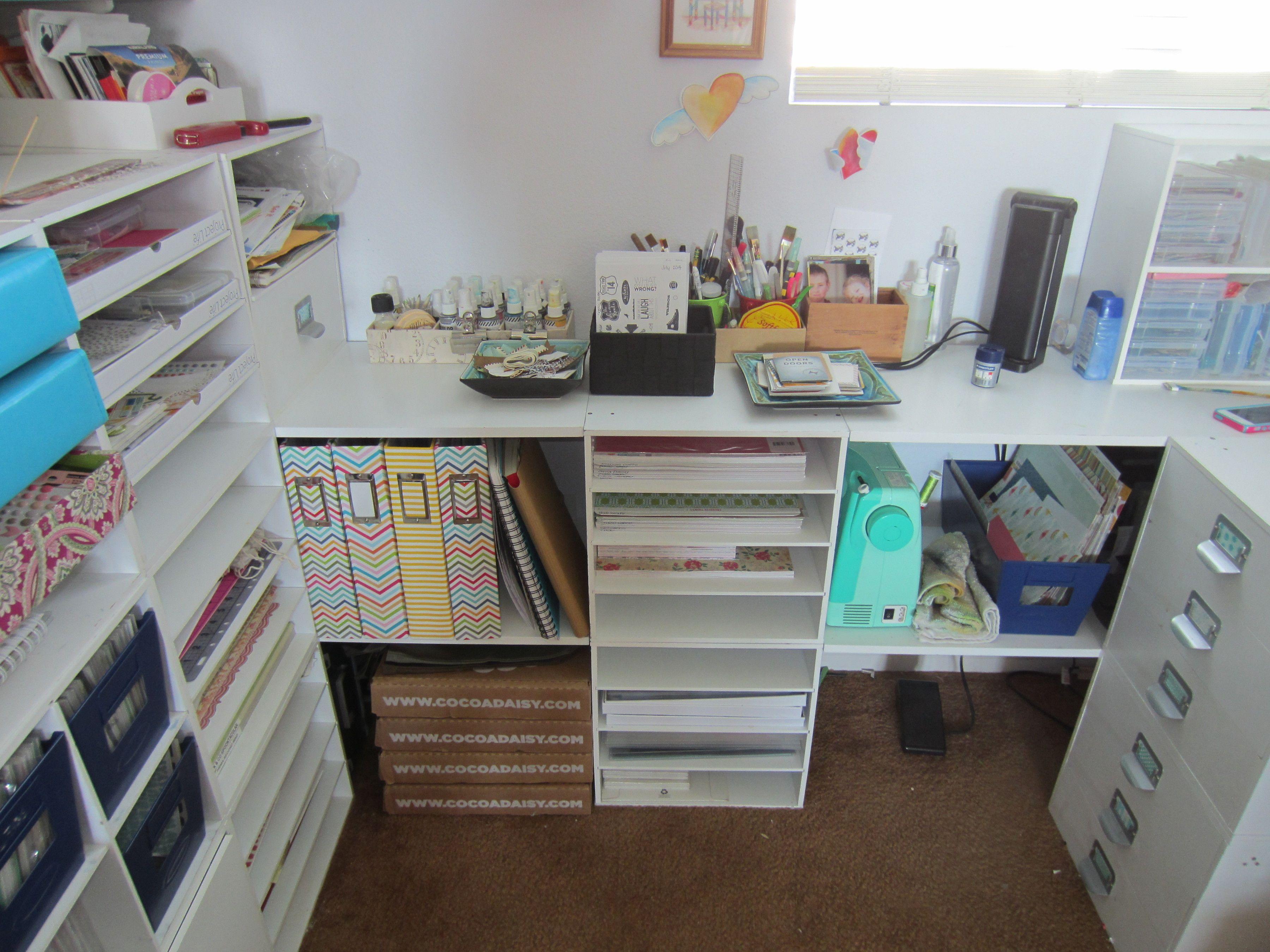 Scrapbook room ideas - My Studio Space Scrapbook Com