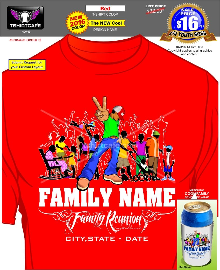 Cool Family Reunion T Shirts T-Shirt Cafe | Family reunion ...