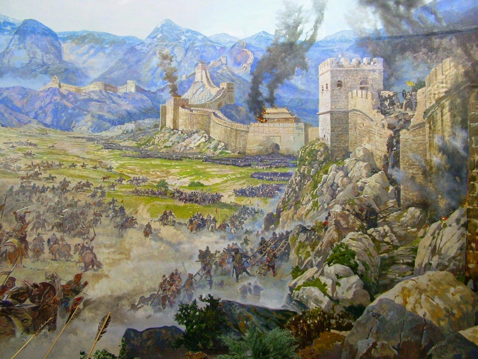 pin on mongol war art on the great wall of china id=42521
