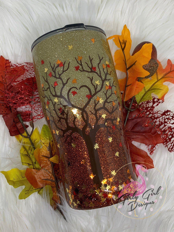 Fall Pumpkin Spice Glitter Tumbler | Etsy