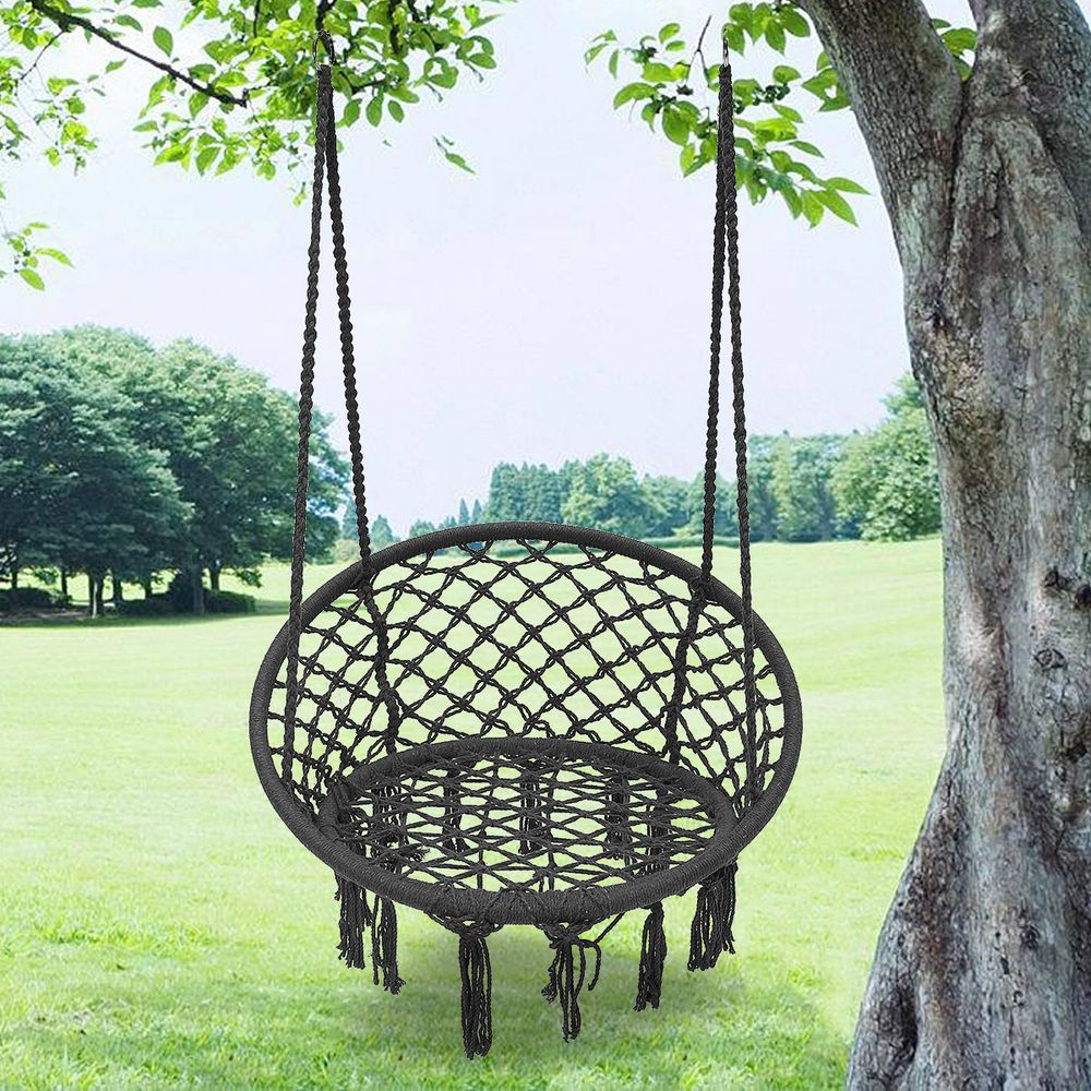 Outdoor Hanging Hammock Chair Camping Mesh Single Swing