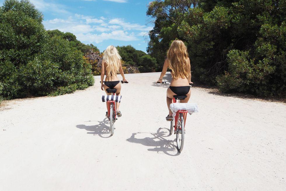 Friends Biking To The Beach On North S Hawaii Shire Company