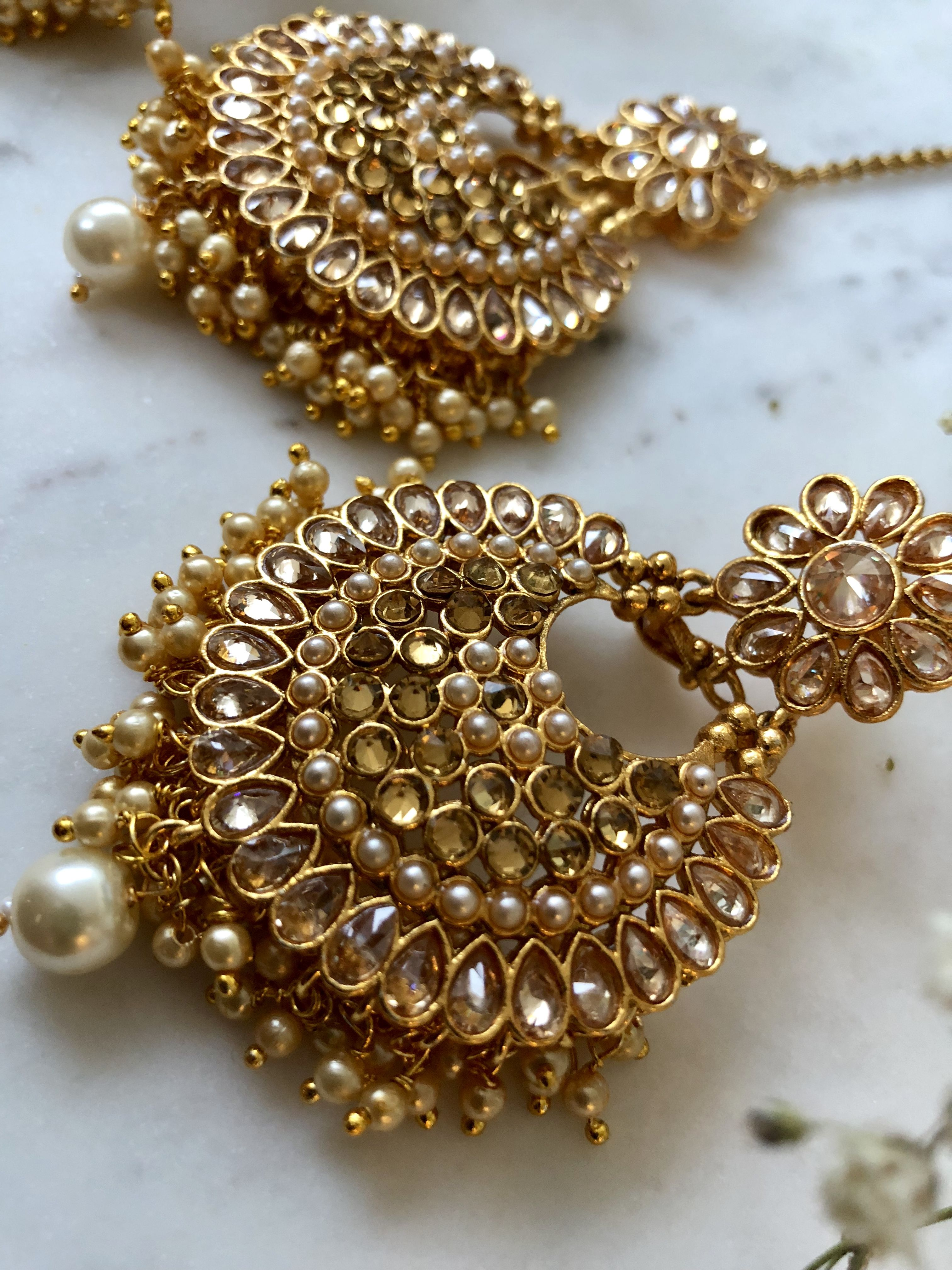 Obliging Kundan Necklace With Earrings Set Blue White Kundan Wedding Jewelry Set Usa Uk 100% Original Jewelry Sets