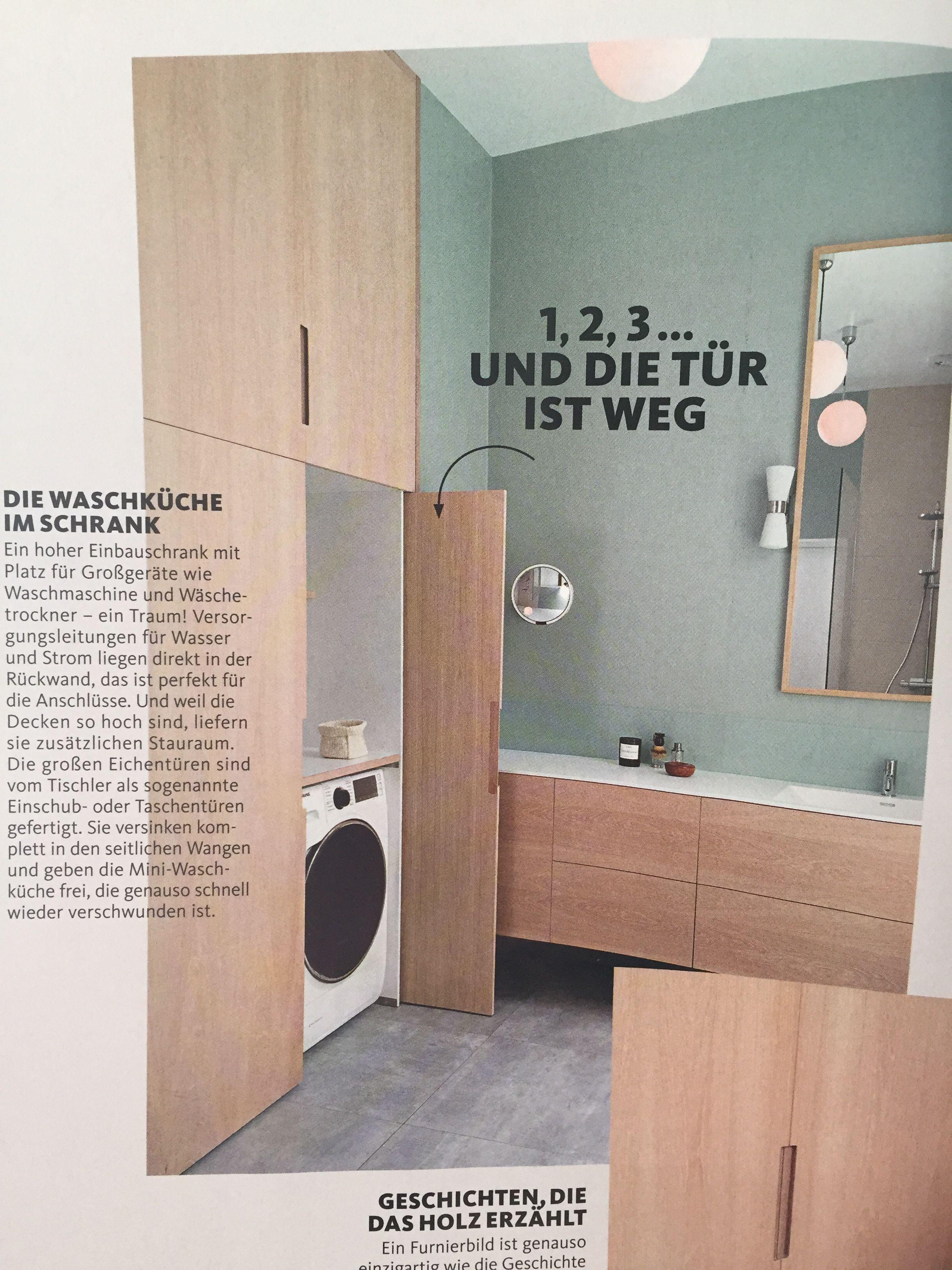 Waschmaschine plus ablagefläche versteckt (küche)  Badezimmer
