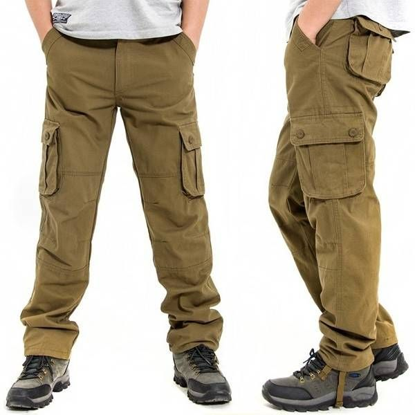6a398edc12 Mens Plus Size Casual Outdoor Sports Multi-pocket Military Cotton Cargo  Pants at Banggood