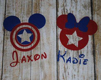 Captain America Mickey Minnie Superhero Disney Marvel Day at