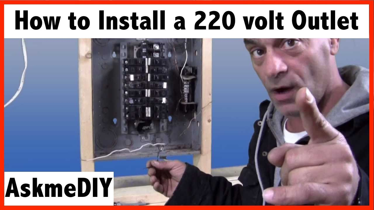 How to install a 220 volt outlet Home electrical wiring