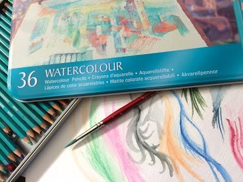 Derwent Watercolor Pencils Demonstration And Review Youtube