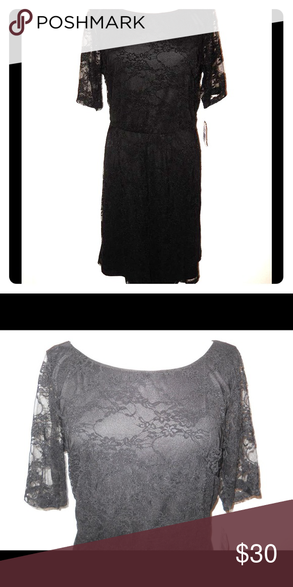 Perfect Little Black Dress Love this little black lace dress. This is the perfect little black dress for any occasion. Dress is lined but sleeves are not. Has thin elastic waist. Tag says 2X but runs small. Would probably fir a 1X better. New with tags! Dresses Midi