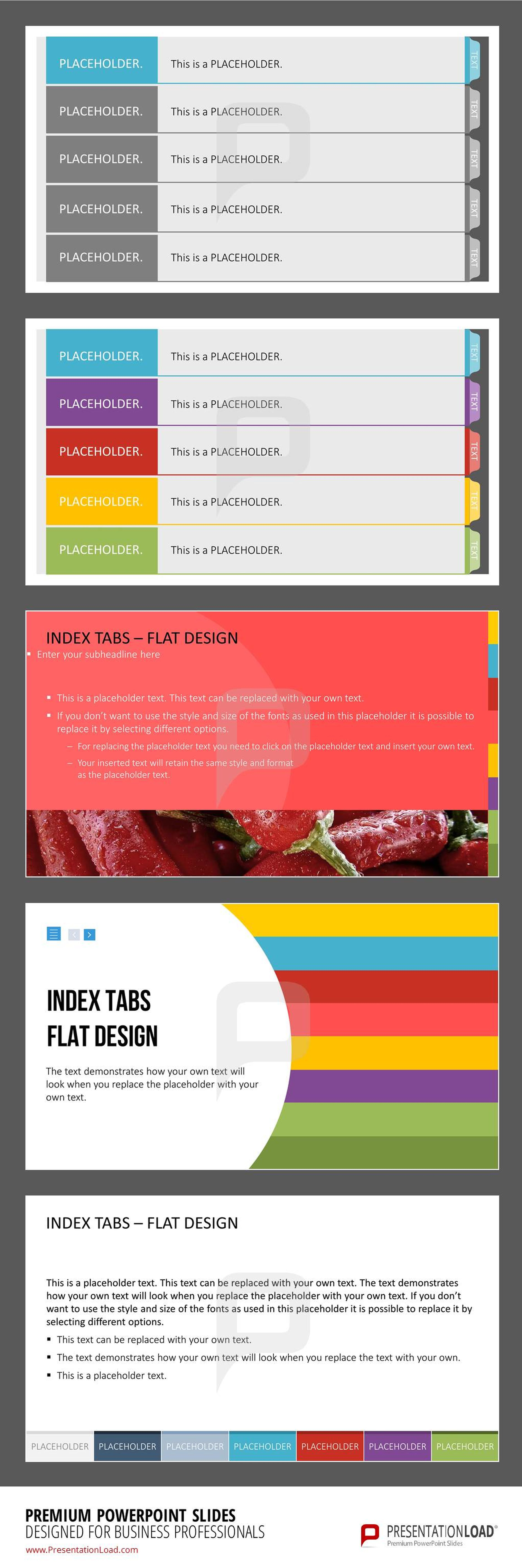 this set of pre-designed index tab templates for powerpoint helps, Powerpoint Presentation Template With Tabs, Presentation templates