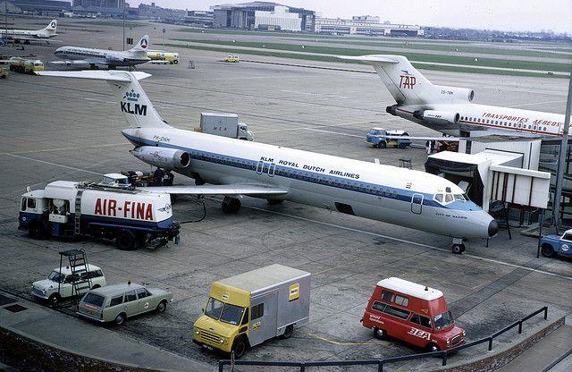 Douglasdc 9 47191 Ph Dnm Dc 9 33rc Klm Heathrow Airport Klm Royal Dutch Airlines Heathrow Heathrow Airport