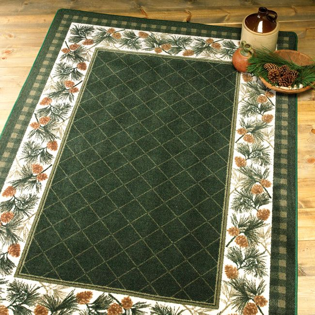 Evergreen Rug 8 x 11 Black forest decor, Rugs, Rustic