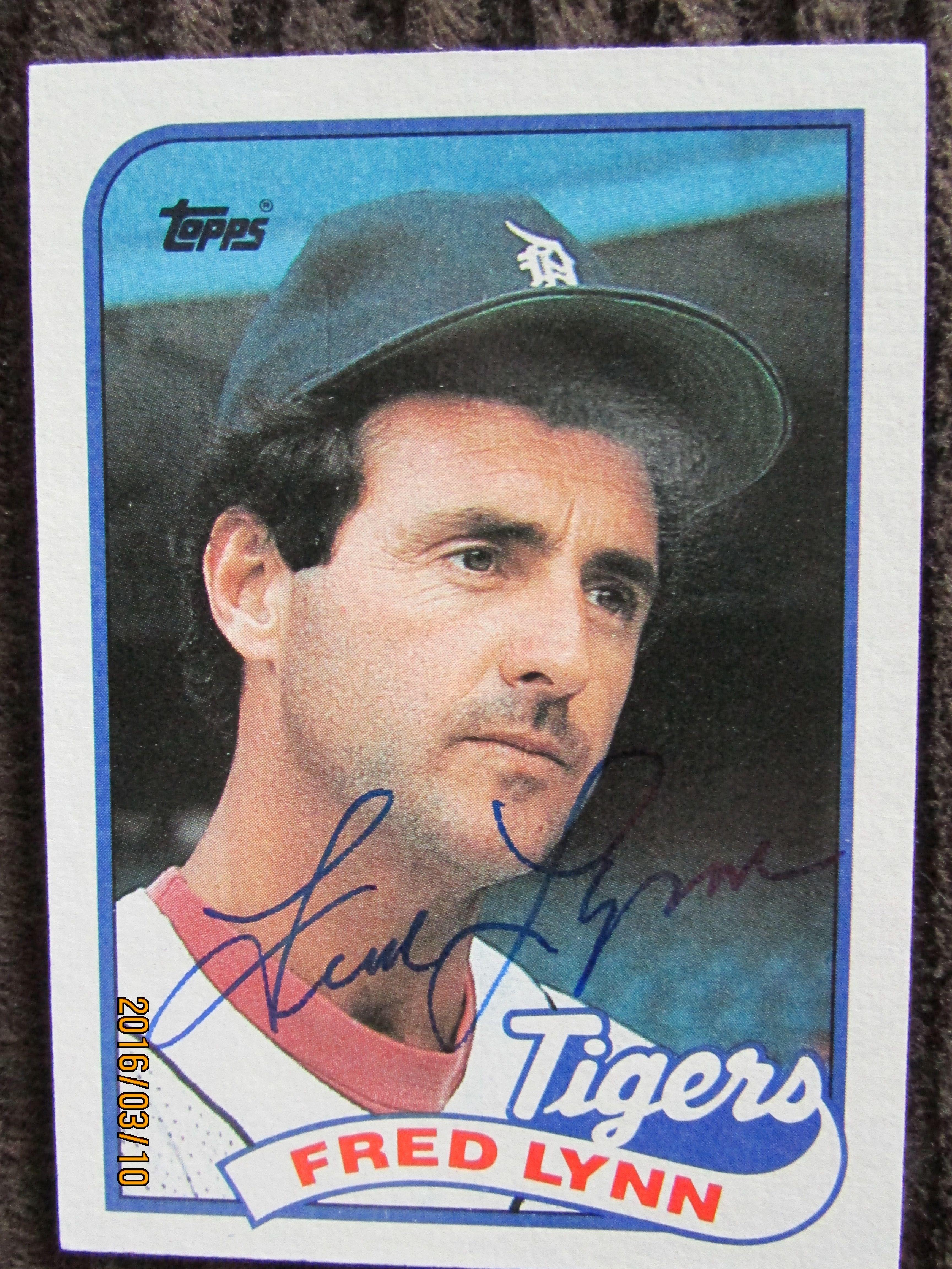 1989 Topps 416 Fred Lynn Ttm 1989 Topps Set Autographs