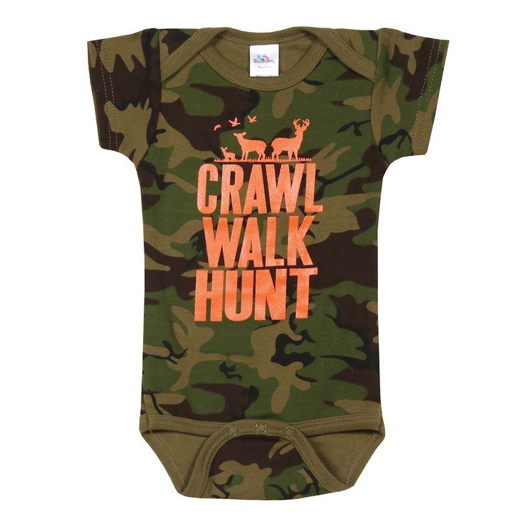Crawl Walk Hunt Camo Snapsuit  Grüner Tarnanzug  36 Monate Crawl Walk Hunt Camo Snapsuit  Grüner Tarnanzug  36 Monate