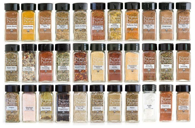 This is a 39-bottle combo pack containing all of our 4oz bottle spices and spice blends. New Bae Seasoning: This blend is a fiery new flavor in your life, giving quite the kick to anything from seafood to roast vegetables to epic potatoes. Reach for it Before Anything Else. Ingredients: Himalayan Pink Salt, Paprika, Celery Seed, Black Pepper, Ancho Chili Powder, Cayenne, Cardamom, Allspice, Mace, Bay Leaves. Amore: Our take on Italian seasoning, this blend delivers bold and savory flavors to you