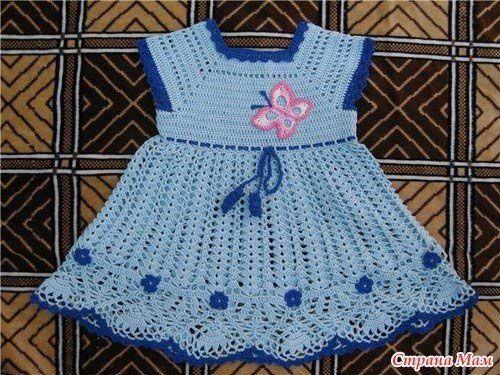 Patrones vestidos tejidos a crochet para niñas03 | Needlework ...