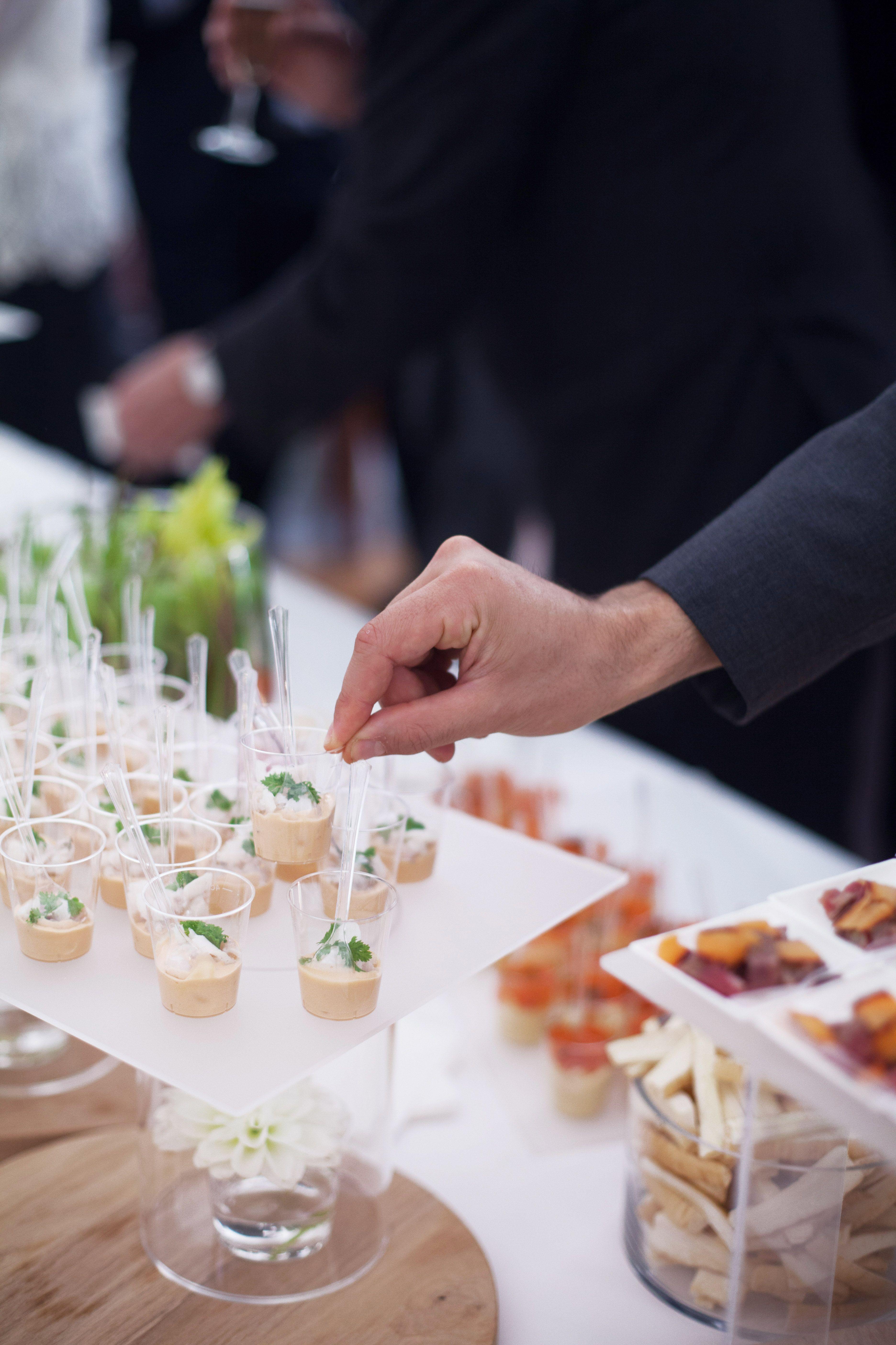 cocktail d u00e9jeunatoire - mariage - verrines - parisien - traiteur - mariage  u00e0 domicile